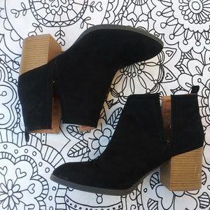 Quipid black heeled booties